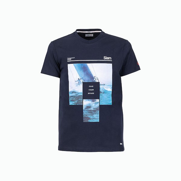 C164 men's t-shirt in Cotton with sailing theme print