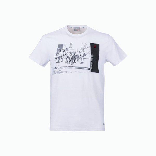 T-Shirt uomo C181 in cotone stile vintage