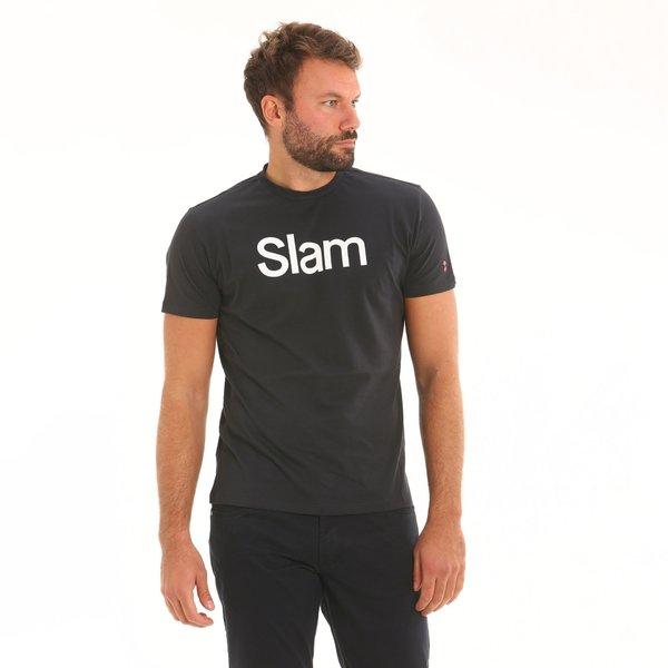 Camiseta para hombre SS D308 de manga corta y cuello caja con logotipo