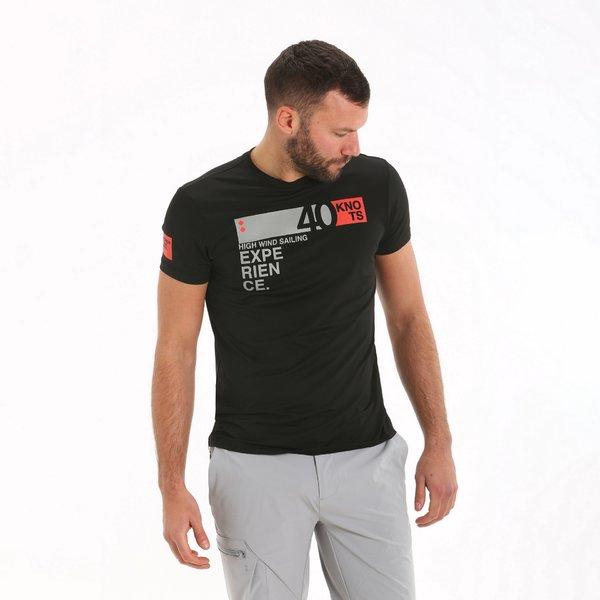 Kurzärmliges Herren-T-Shirt E100 aus Nylon-Funktionsgewebe.