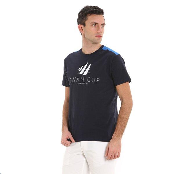 T-shirt uomo E118 girocollo a manica corta in cotone