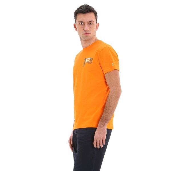 Camiseta para hombre E64 de manga corta y cuello caja en algodón