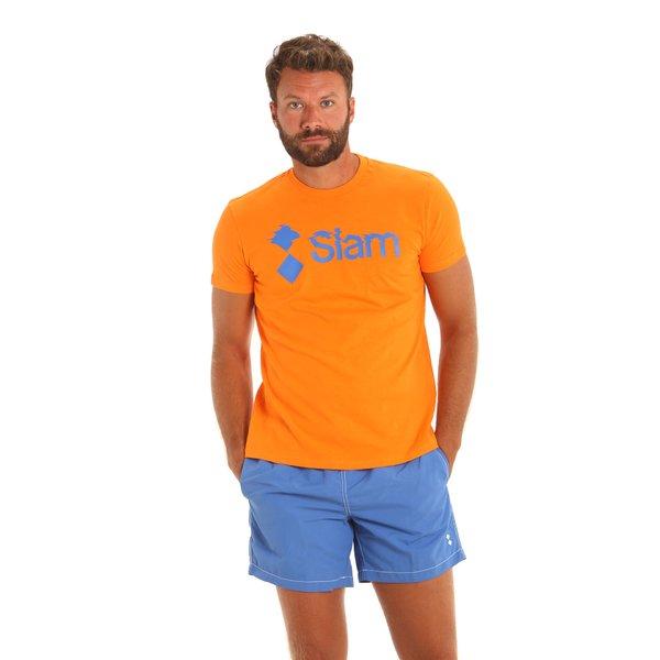 Camiseta para hombre E112 de manga corta y cuello caja en algodón