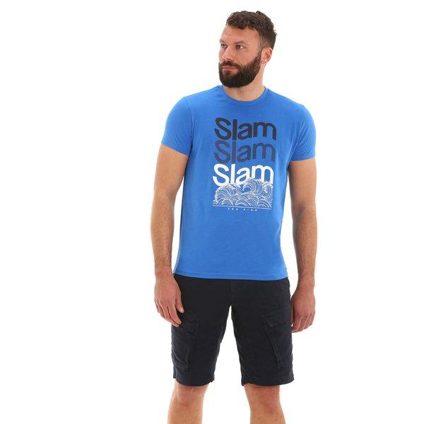Camiseta para hombre E115 de manga corta y cuello caja en algodón