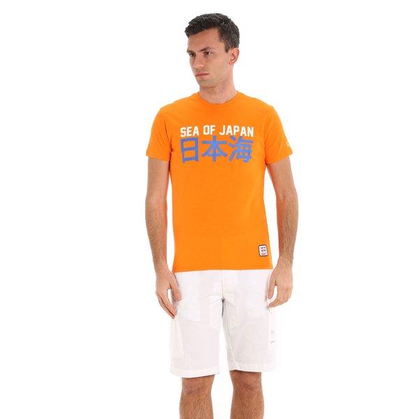 Kurzärmliges Herren-T-Shirt E105 mit Aufdrucken mit Segelmotiv
