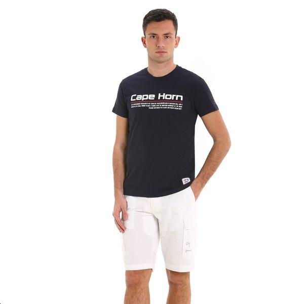 Camiseta para hombre E106 de manga corta y cuello caja en algodón