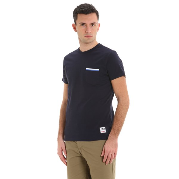 T-shirt in stretch jersey de coton élastique homme E107