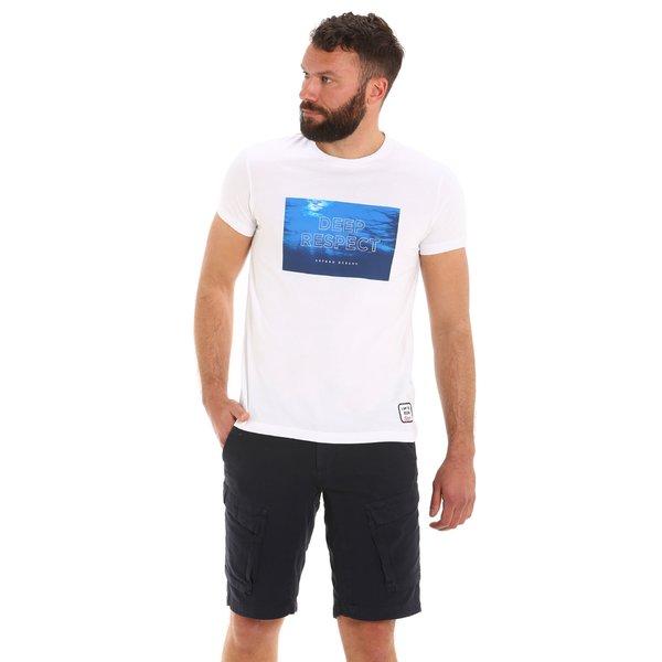 Camiseta para hombre E108 de manga corta y cuello caja en algodón