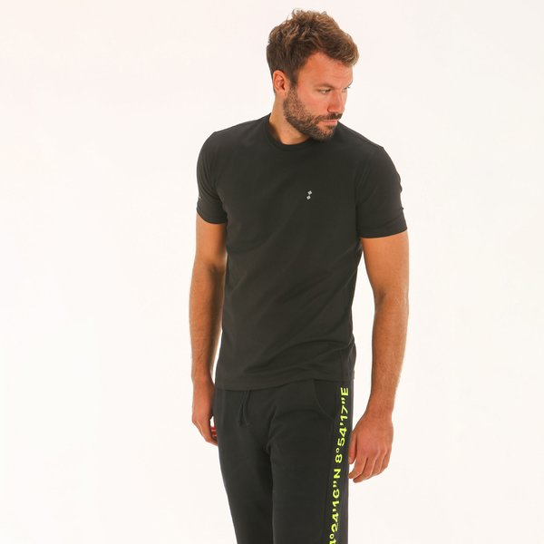T-shirt uomo F134 a manica corta in cotone elasticizzato
