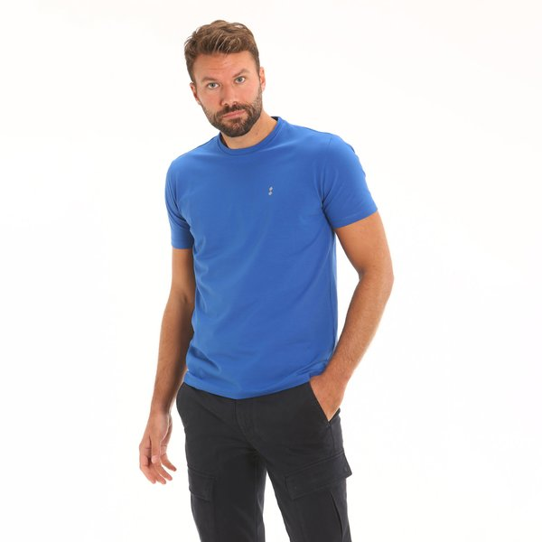 Men's short-sleeve t-shirt F134 in stretch cotton jersey