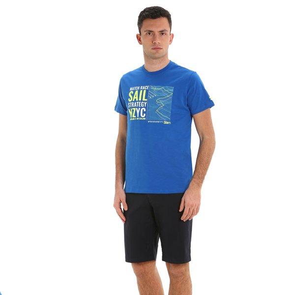 Camiseta para hombre G108 de manga corta y cuello caja en algodón