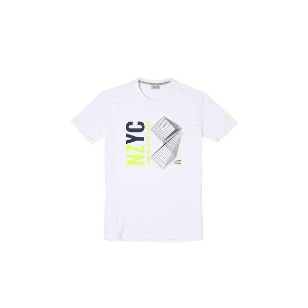 Camiseta para hombre G109 de manga corta y cuello caja en algodón