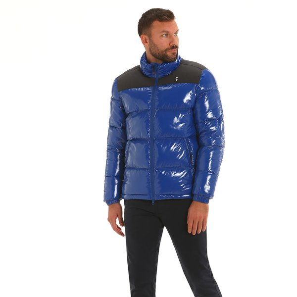 Men short jacket F24 in shiny fabric