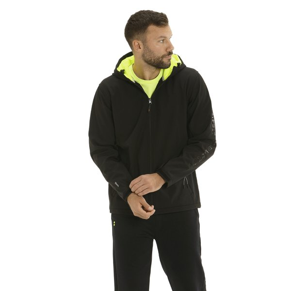 Men softshell F49 with double hood