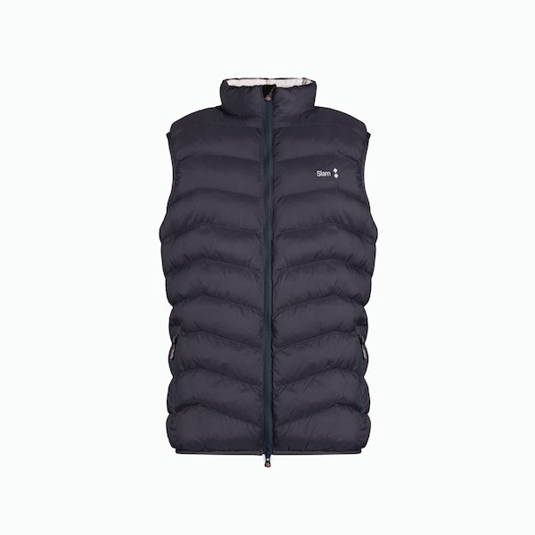 Gilet Uomo B201 in Nylon a zip con cuciture a vista