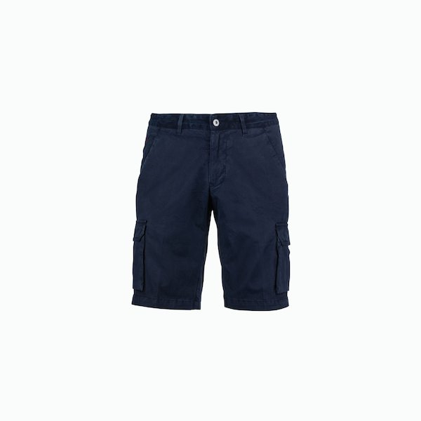 Bermuda Man A84 cargo with culisse in denim jeans