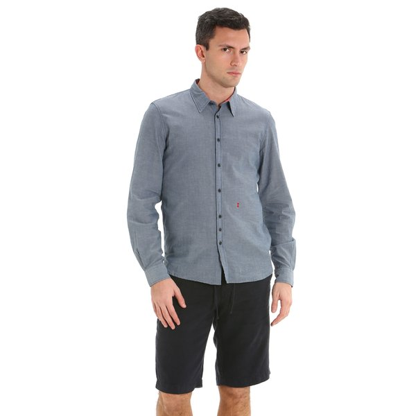 E150 men's Bermuda shorts in fine linen with drawstring waist