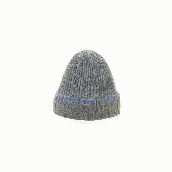 Chapeau homme F419 en laine mélangée côtelée