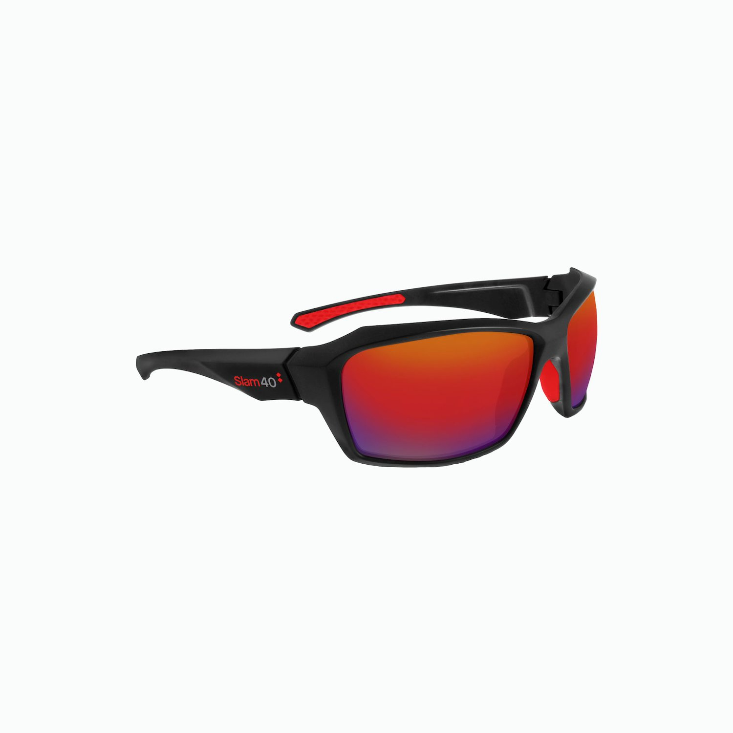 40th Sunglasses - Black / Red / Red