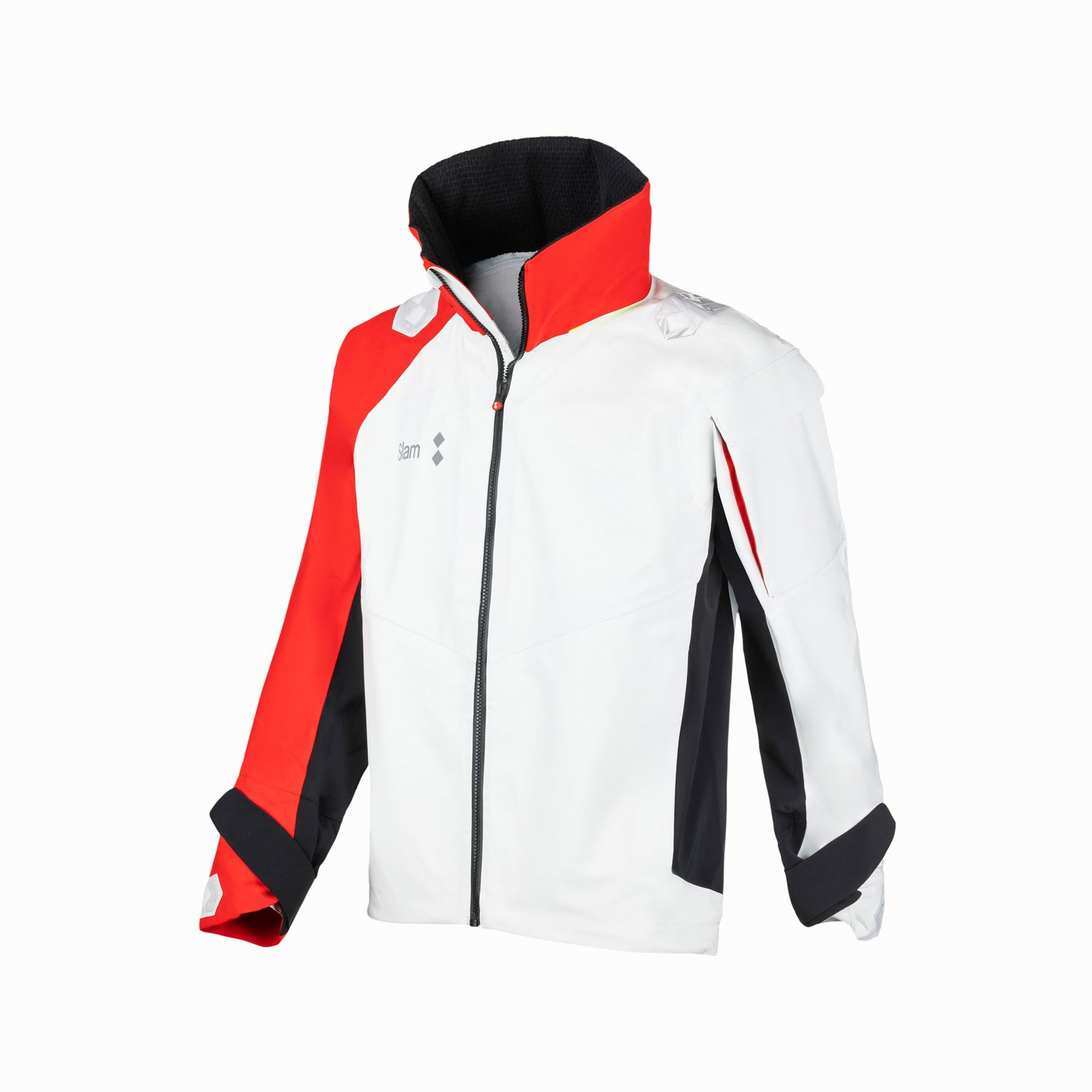 WIN-D RACING JACKET - White/Slam Red/Black