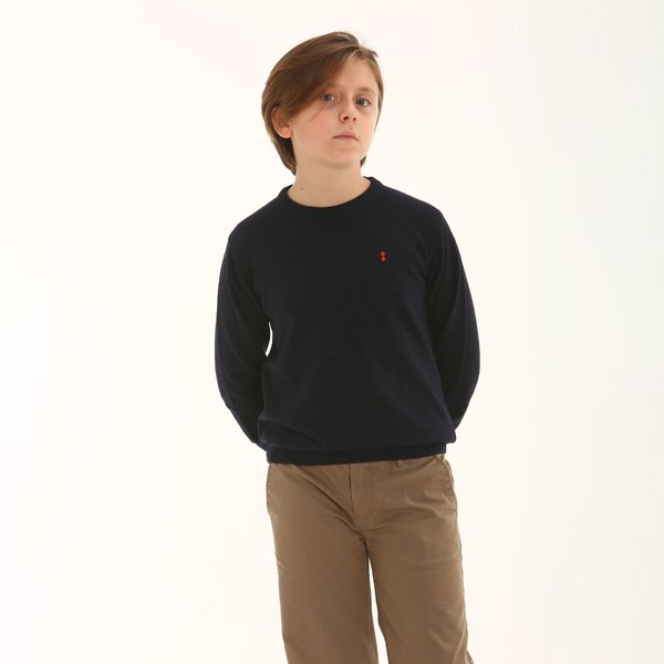 Italian-made cashmere blend Junior crew-neck jumper D93