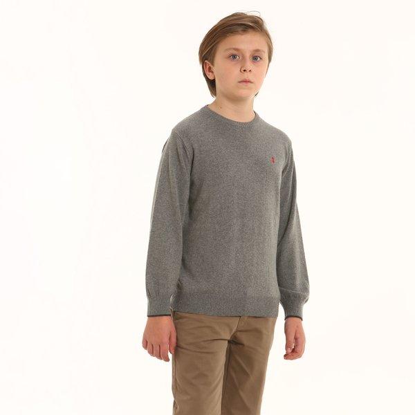Suéter D93 de cuello caja júnior en mezcla de cachemir