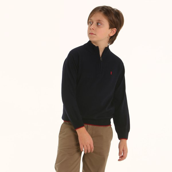 Italian-made cashmere blend Junior polo-neck jumper D94