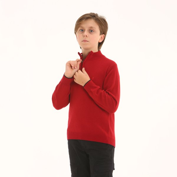 Maglione junior D94 in misto cachemire a collo alto