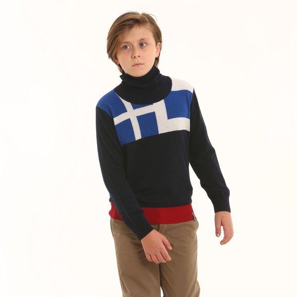 Suéter niño F327 de cuello cisne