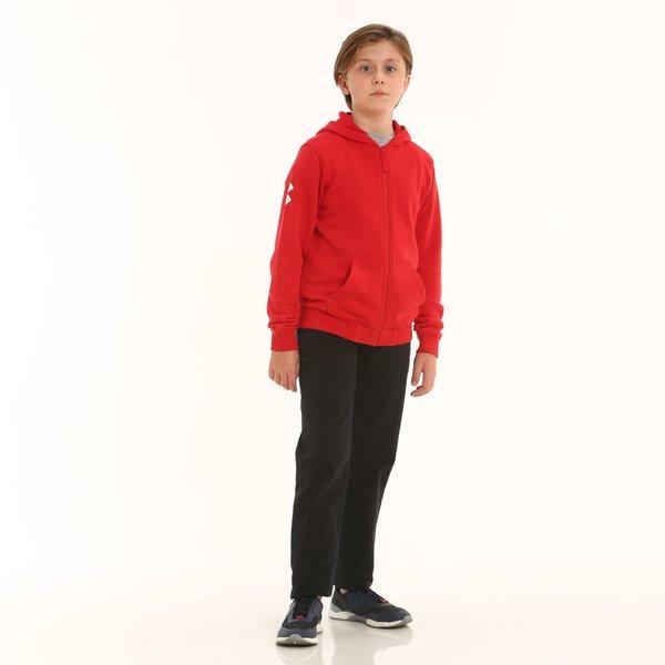 Pantalons enfant D399 en twill de coton élastique