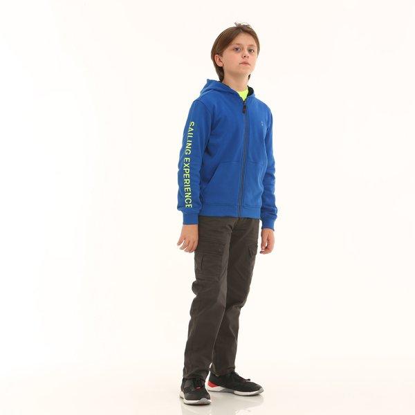 Pantalón niño D400 en sarga de algodón elastizada