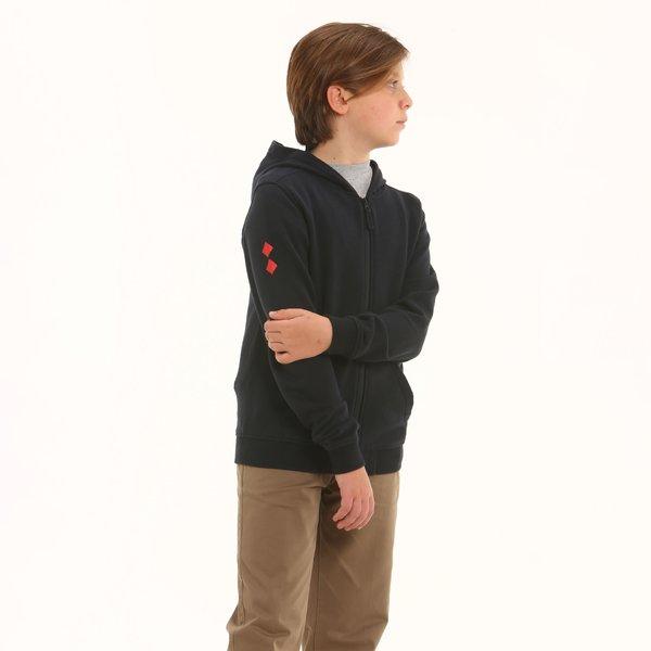 Sweat-shirt enfant D195 en tissu bouclette coton