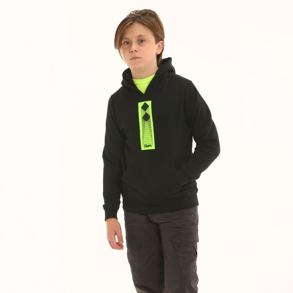 Junior sweatshirt F339 with hood and central pocket