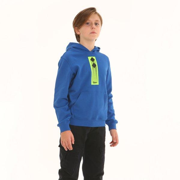 Sudadera niño F339 en algodón con capucha