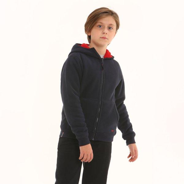 Sudadera niño F316 afelpada reversible con capucha
