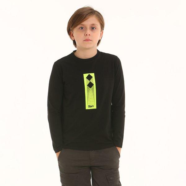 Camiseta niño F357 de cuello caja y manga larga