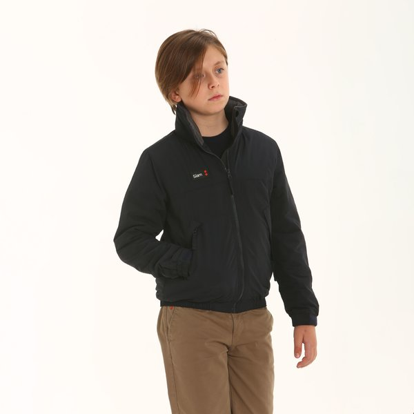 Giacca Junior Winter Sailing in nylon taslon con cappuccio
