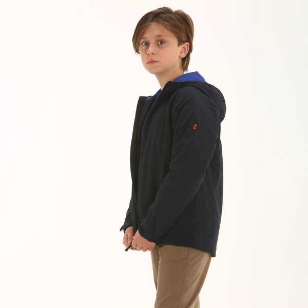 Junior hooded jacket Mazzara in mechanical stretch fabric
