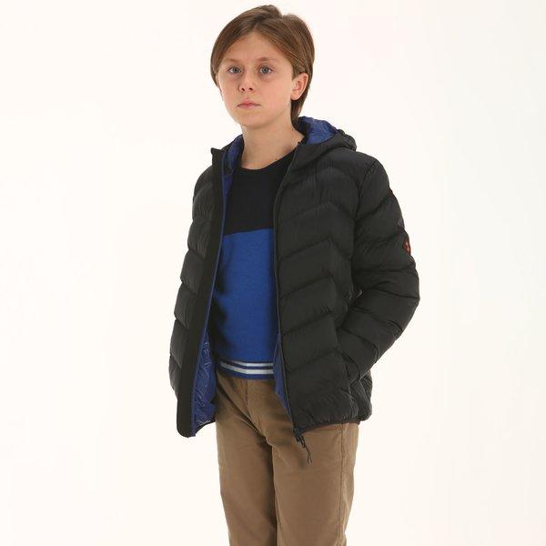 Chaqueta niño B100 con capucha en nailon