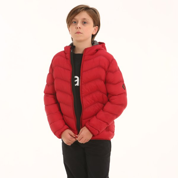 Junior padded jacket B100 in nylon with hood