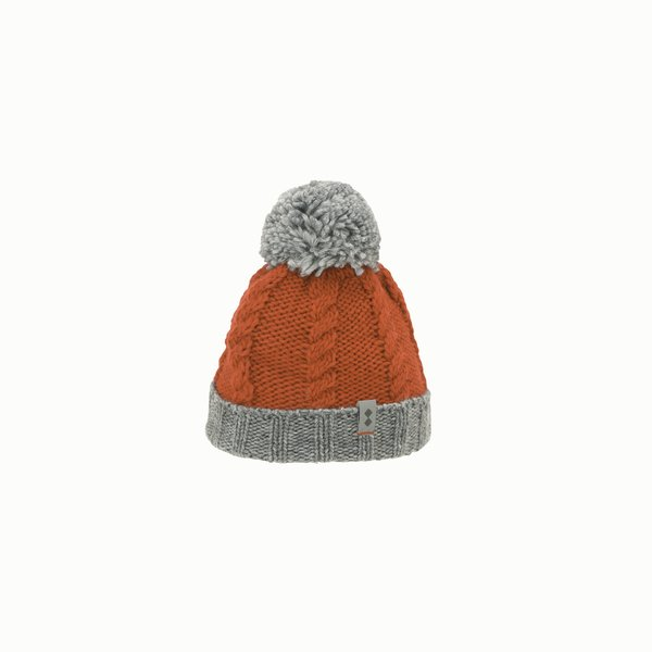 Junior hat F471 in wool blend with pompom