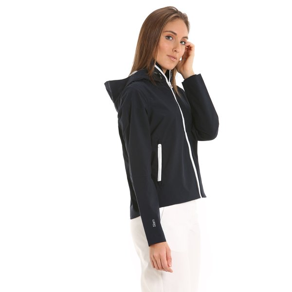 E204 women's hooded sporty jacket in polyester