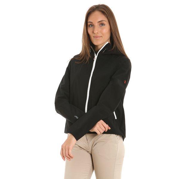 Chaqueta deportiva E204 para mujer, en poliéster y con capucha