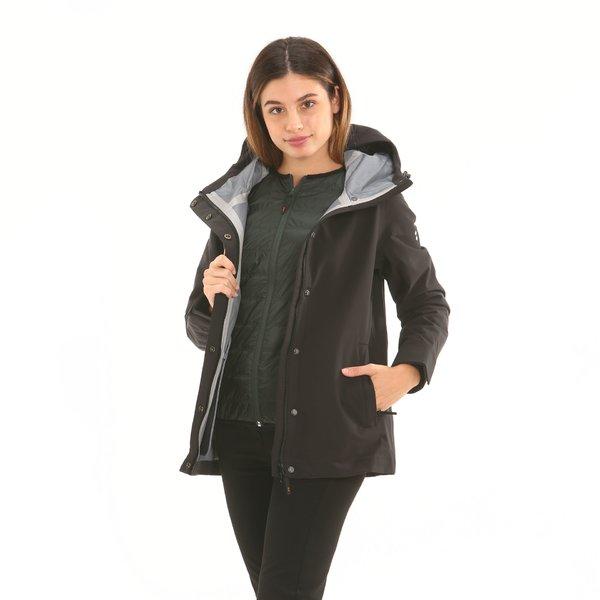 Chaqueta mujer F212 con capucha y acolchado interno