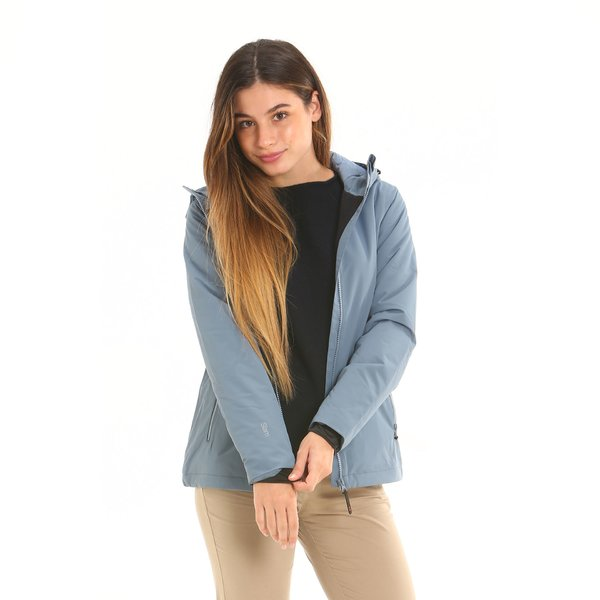 Women jacket F222 in mechanical ripstop with an hood