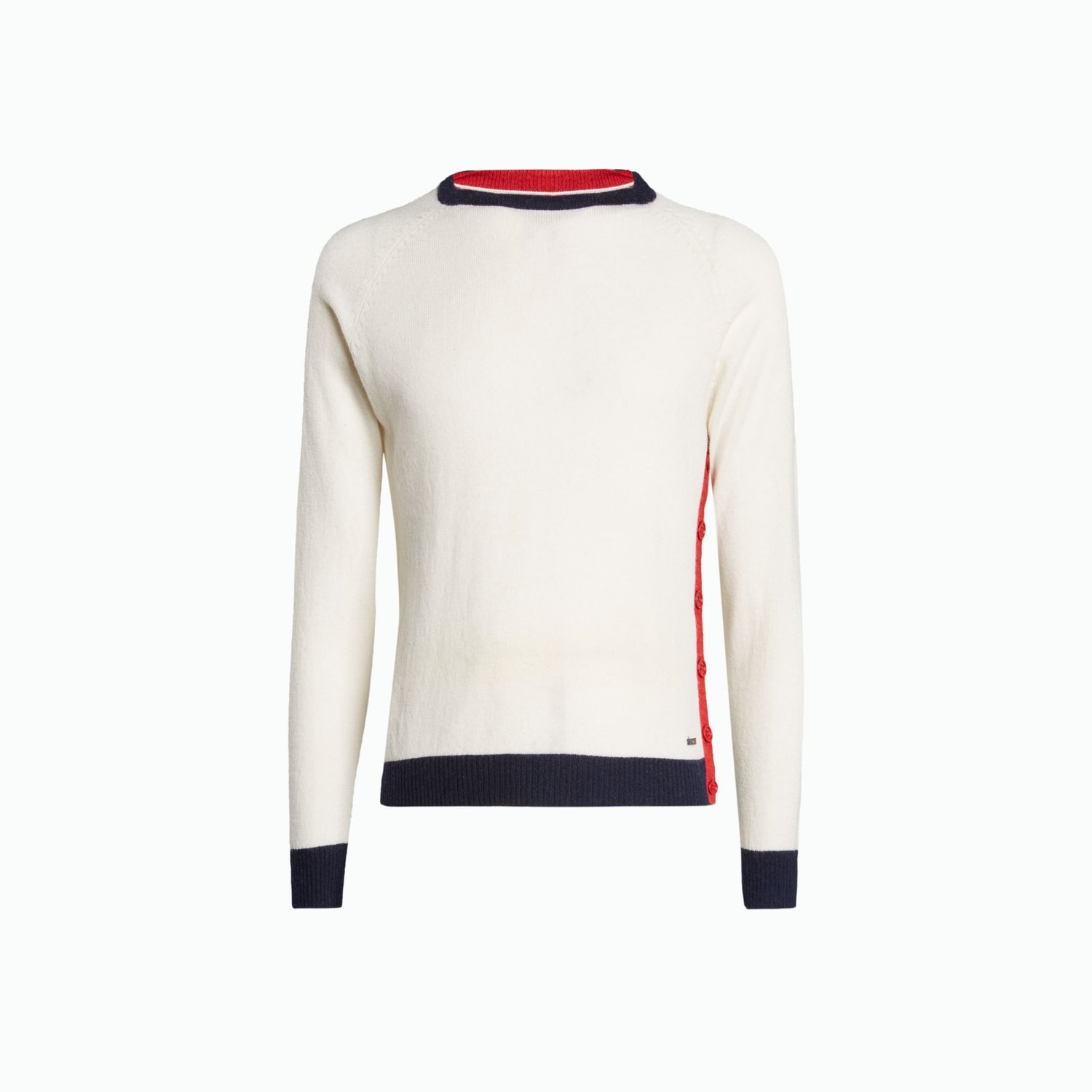 B118 Jumper - White / Navy / Red