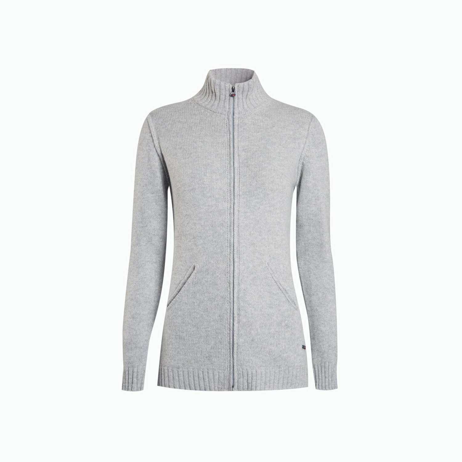 B149 Cardigan - Light Grey Melange
