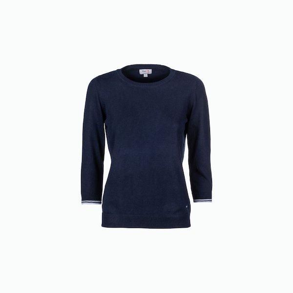 Suéter de mujer de algodón con mangas 3/4