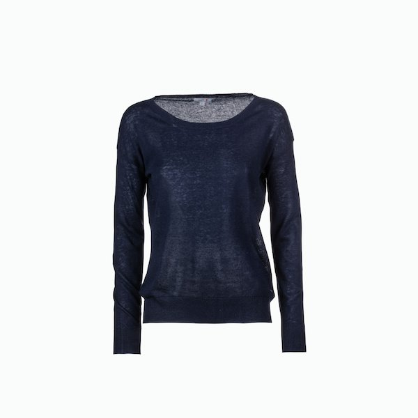 C163 Solid-color crew-neck women's jumper