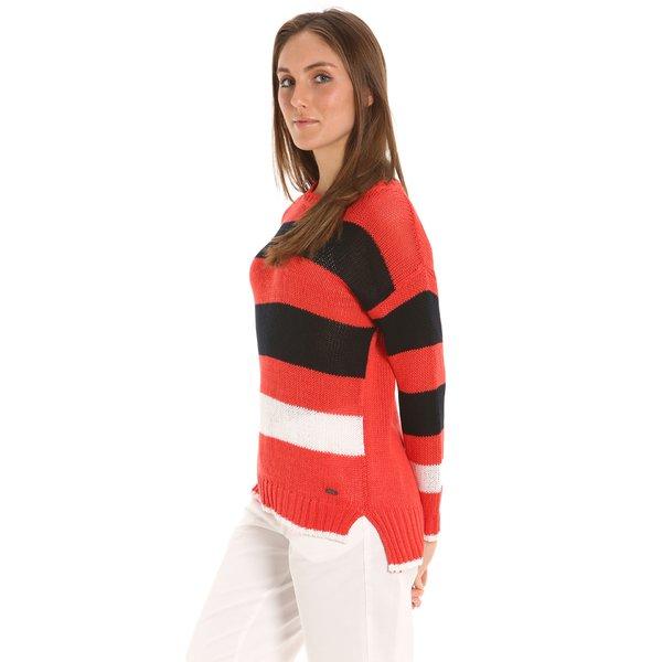 Maglione donna E212 a girocollo in cotone leggero